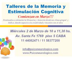 Taller de la Memoria y Estimulacion Cognitiva