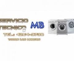 Zona Sur Tel.4264-9738 Servicio tecnico de lavarropas en Rafael Calzada