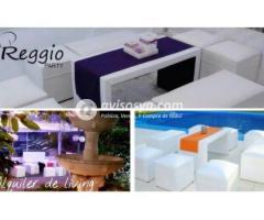 alquiler livings, mobiliarios para para eventos